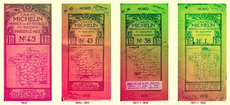 Guías Michelin 1910 - 1920