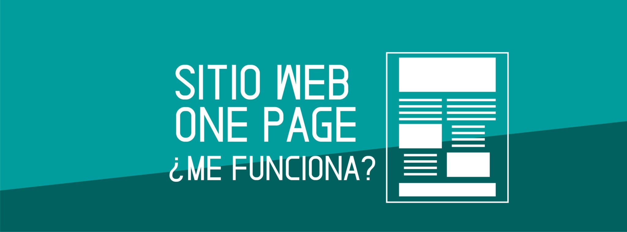 Sitio Web One Page ¿Me funciona?