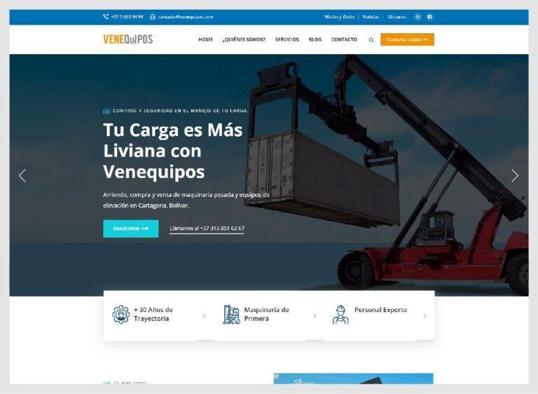 Diseño Web Maquinaria Pesada