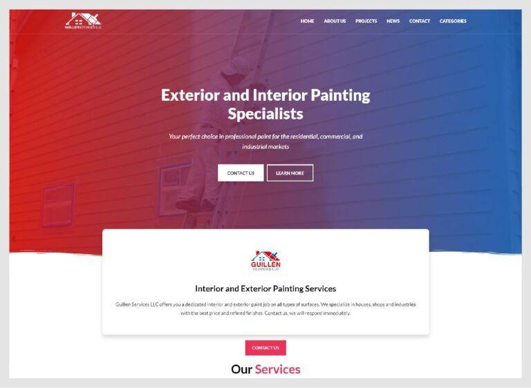web de pintura