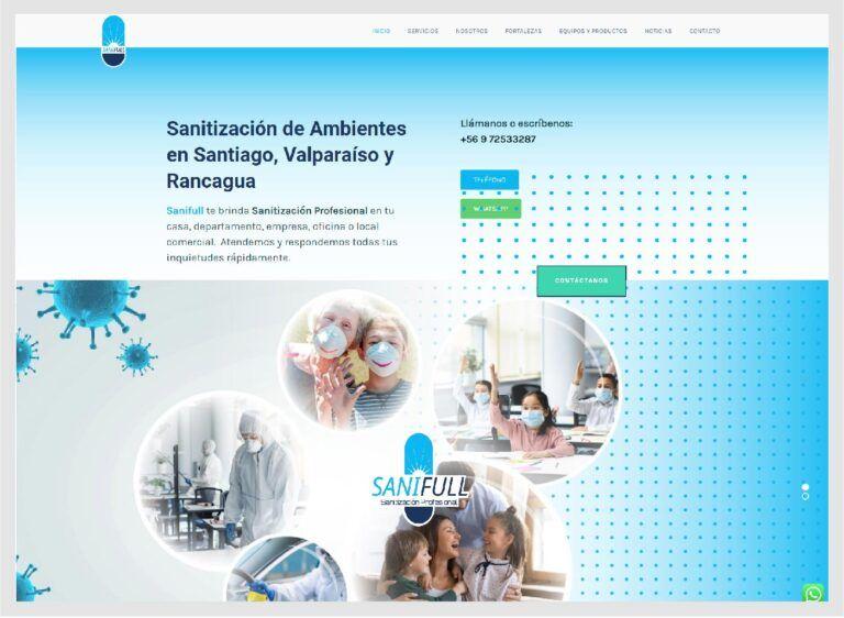 sitio web sanitización