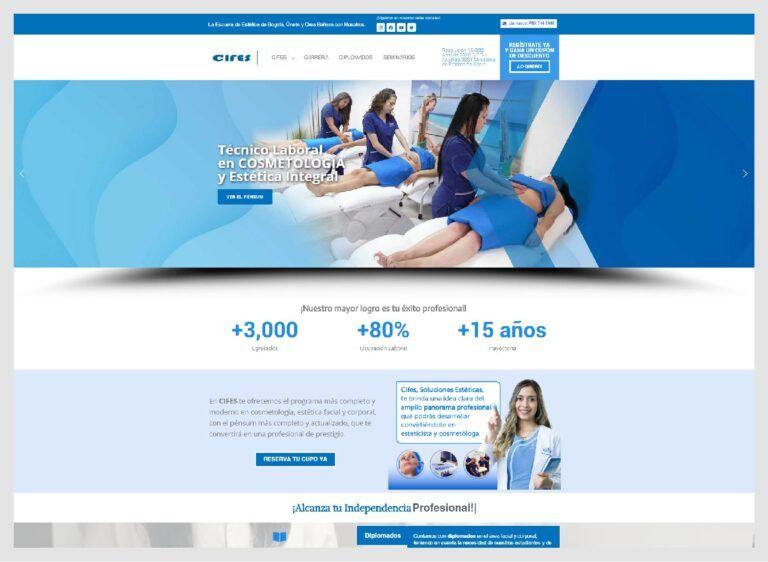 web escuela de estetica