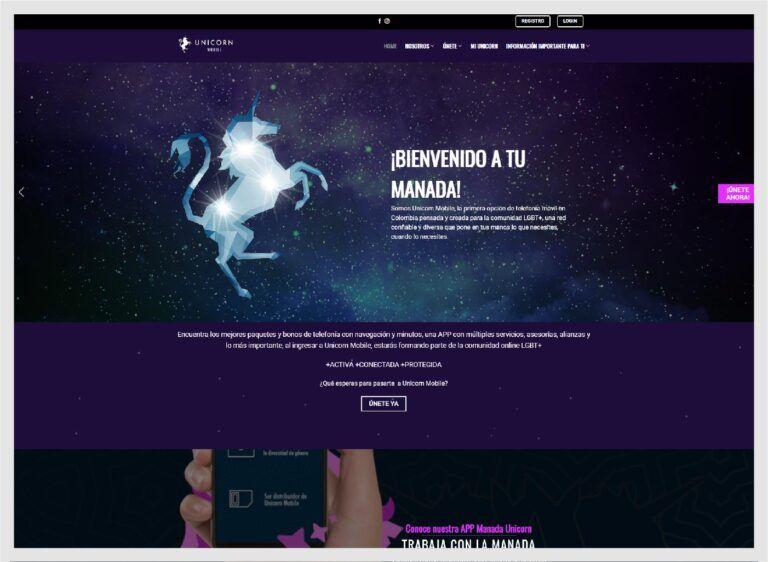 re diseño sito web telecomuicaciones LGBT+